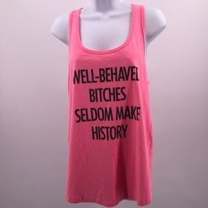 5dbea737dd6de Married to the Mob. Well Behaved Bitches Seldom Make History Tank Top